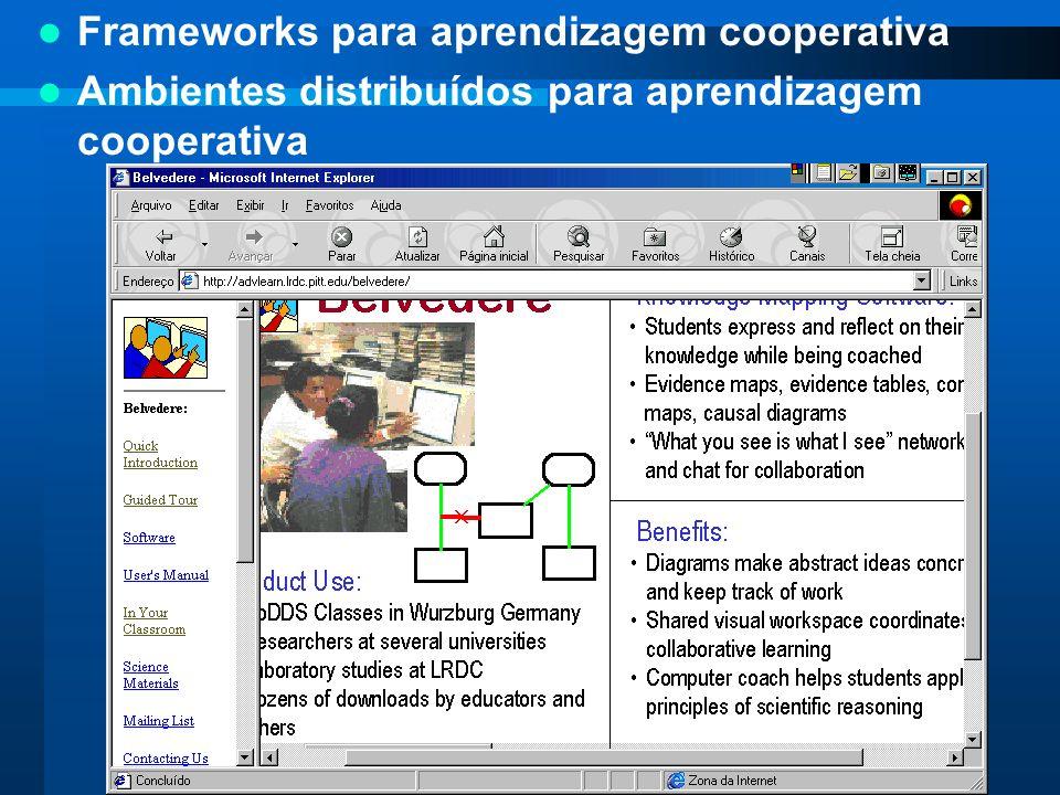 Frameworks para aprendizagem cooperativa