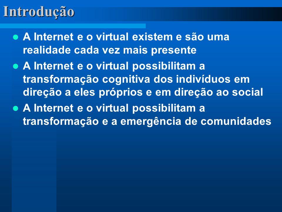 Introdução A Internet e o virtual existem e são uma realidade cada vez mais presente.