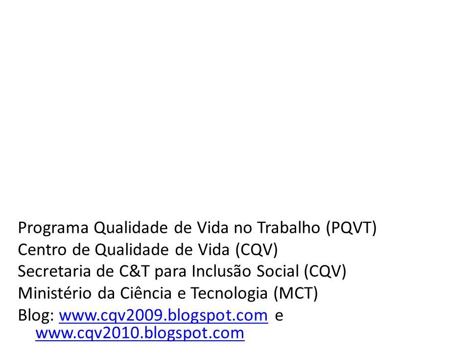 Programa Qualidade de Vida no Trabalho (PQVT)