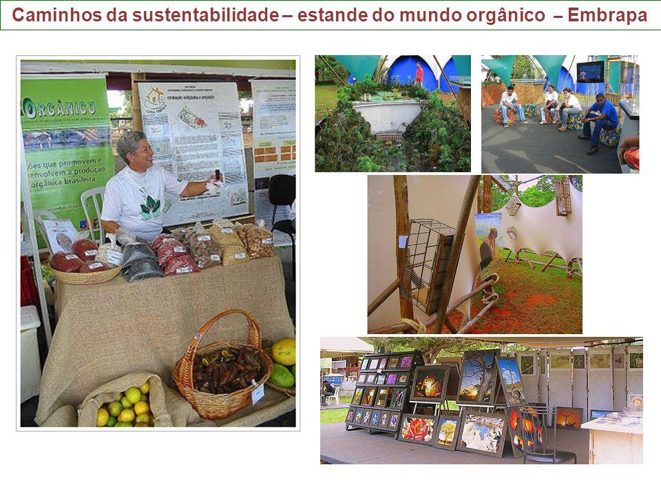 Caminhos da sustentabilidade – estande do mundo orgânico – Embrapa