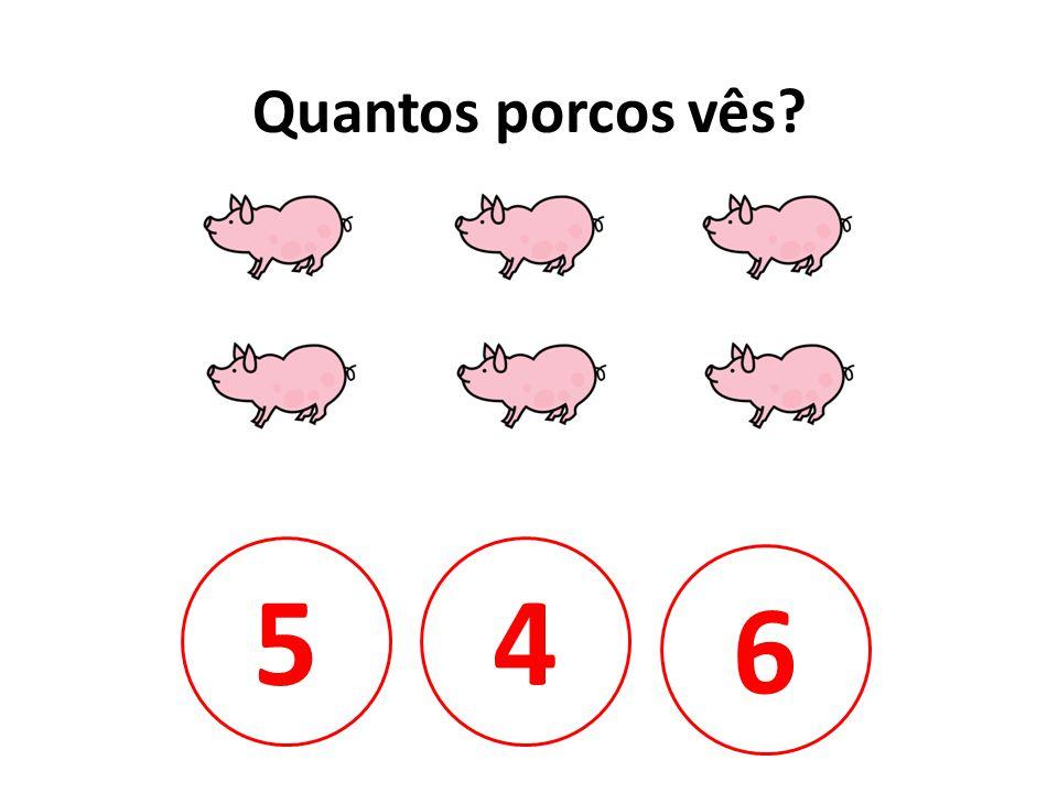 Quantos porcos vês 5 4 6
