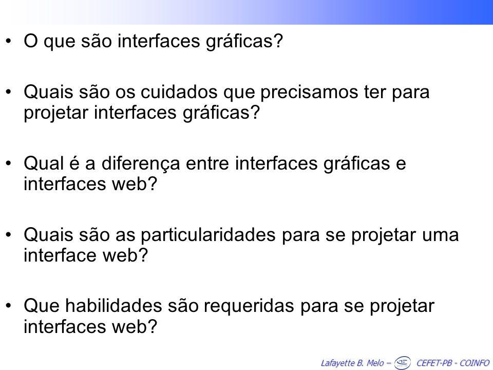 O que são interfaces gráficas