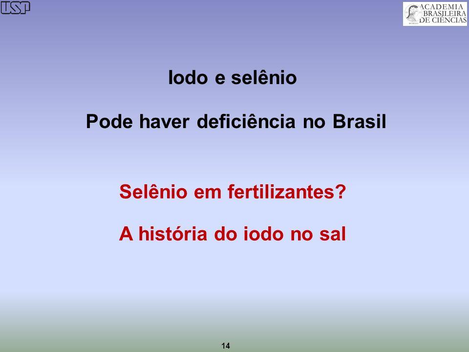 Pode haver deficiência no Brasil