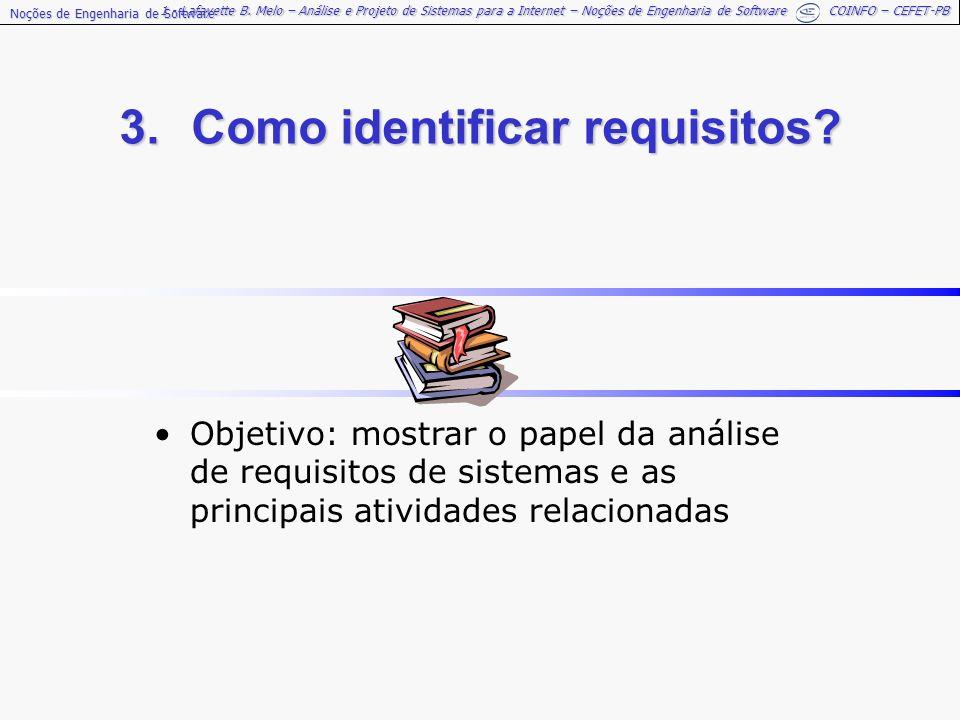 3. Como identificar requisitos