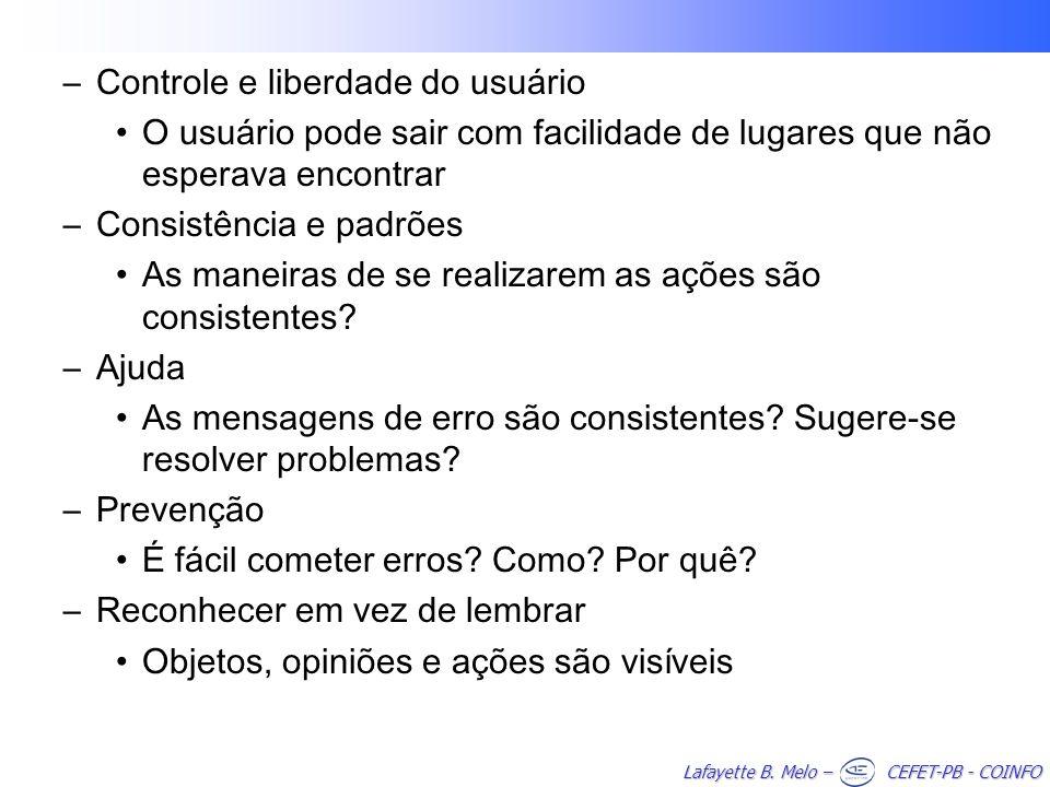 Controle e liberdade do usuário