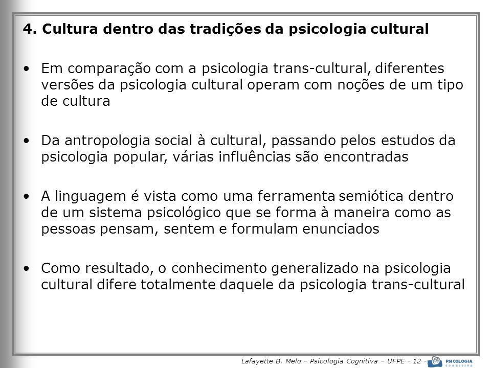Lafayette B. Melo – Psicologia Cognitiva – UFPE - 12 -