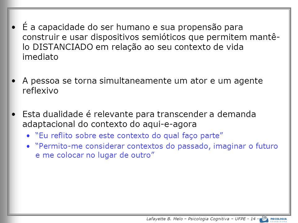Lafayette B. Melo – Psicologia Cognitiva – UFPE - 14 -
