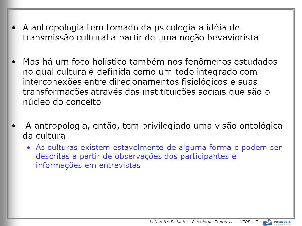 Lafayette B. Melo – Psicologia Cognitiva – UFPE - 7 -