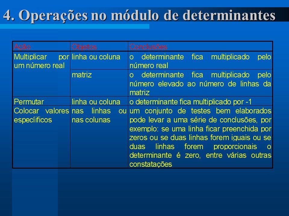 4. Operações no módulo de determinantes