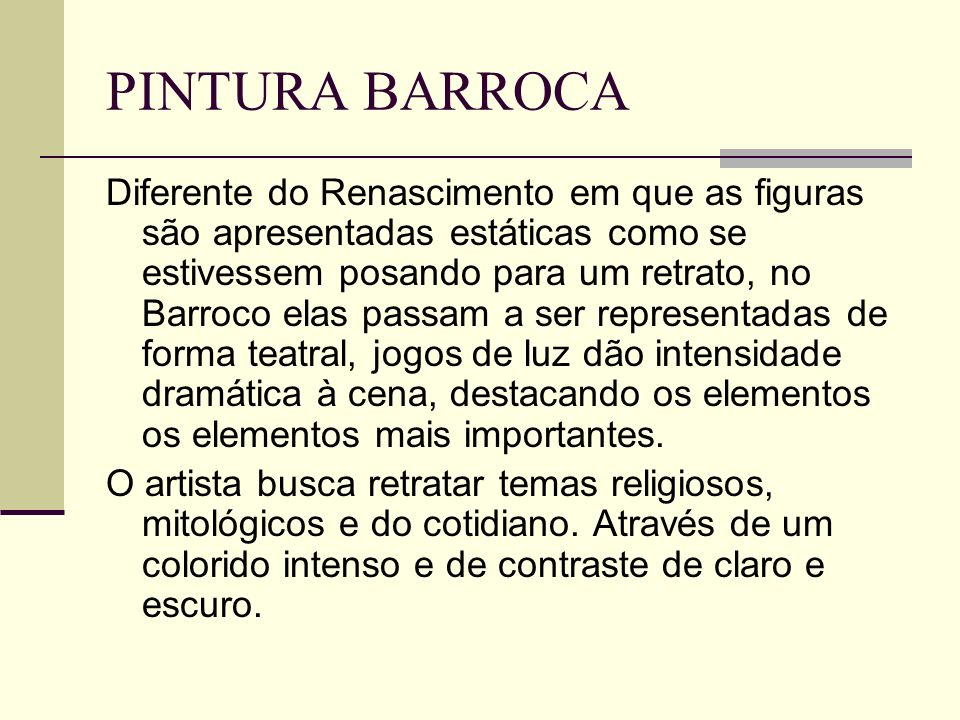 PINTURA BARROCA