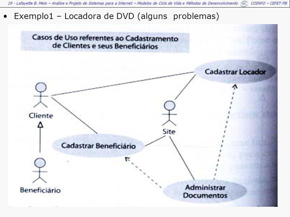 Exemplo1 – Locadora de DVD (alguns problemas)