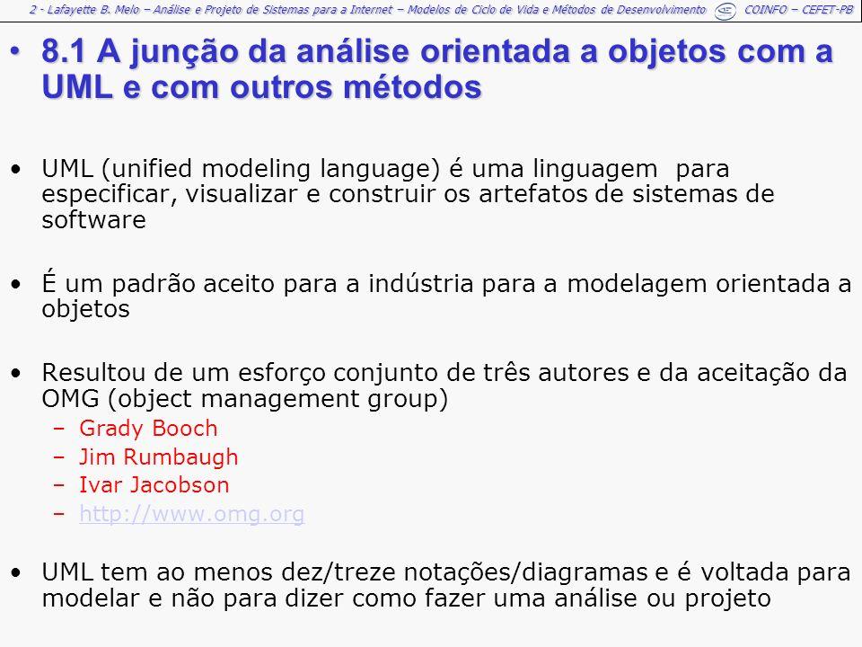 8.1 A junção da análise orientada a objetos com a UML e com outros métodos