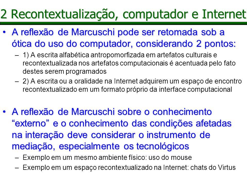 2 Recontextualização, computador e Internet