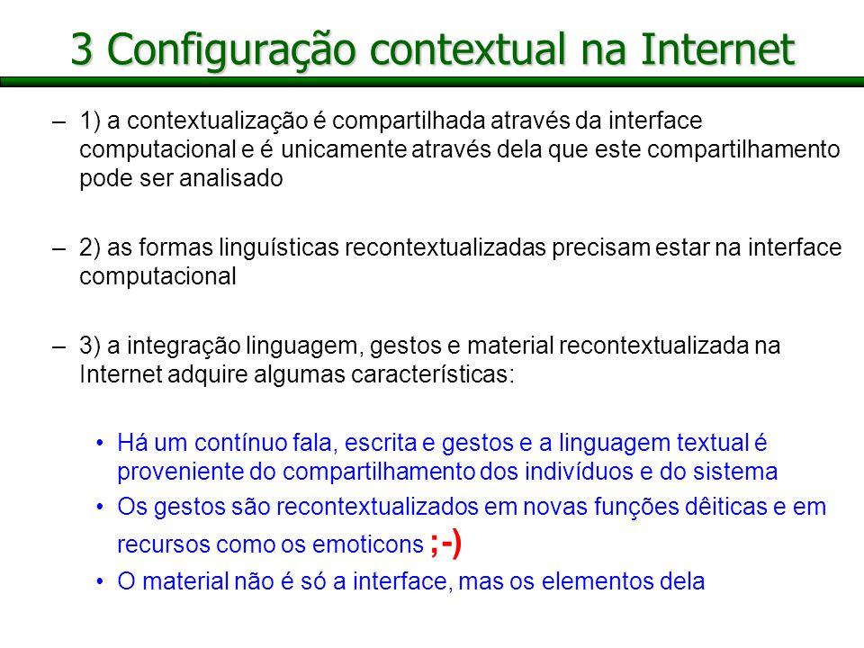 3 Configuração contextual na Internet