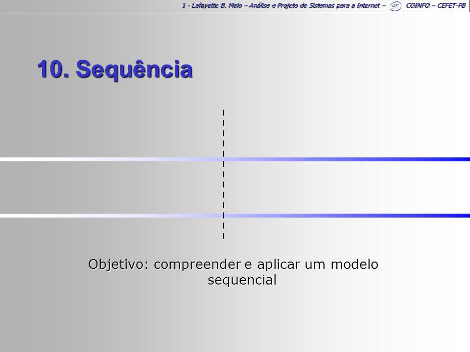 Objetivo: compreender e aplicar um modelo sequencial