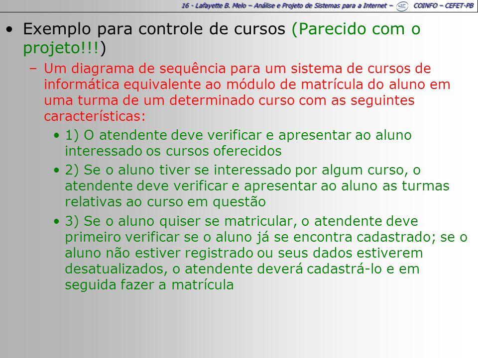 Exemplo para controle de cursos (Parecido com o projeto!!!)