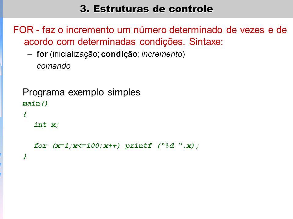 Programa exemplo simples