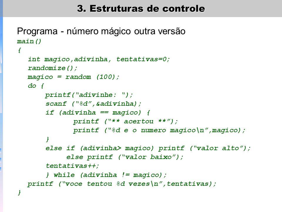 Programa - número mágico outra versão