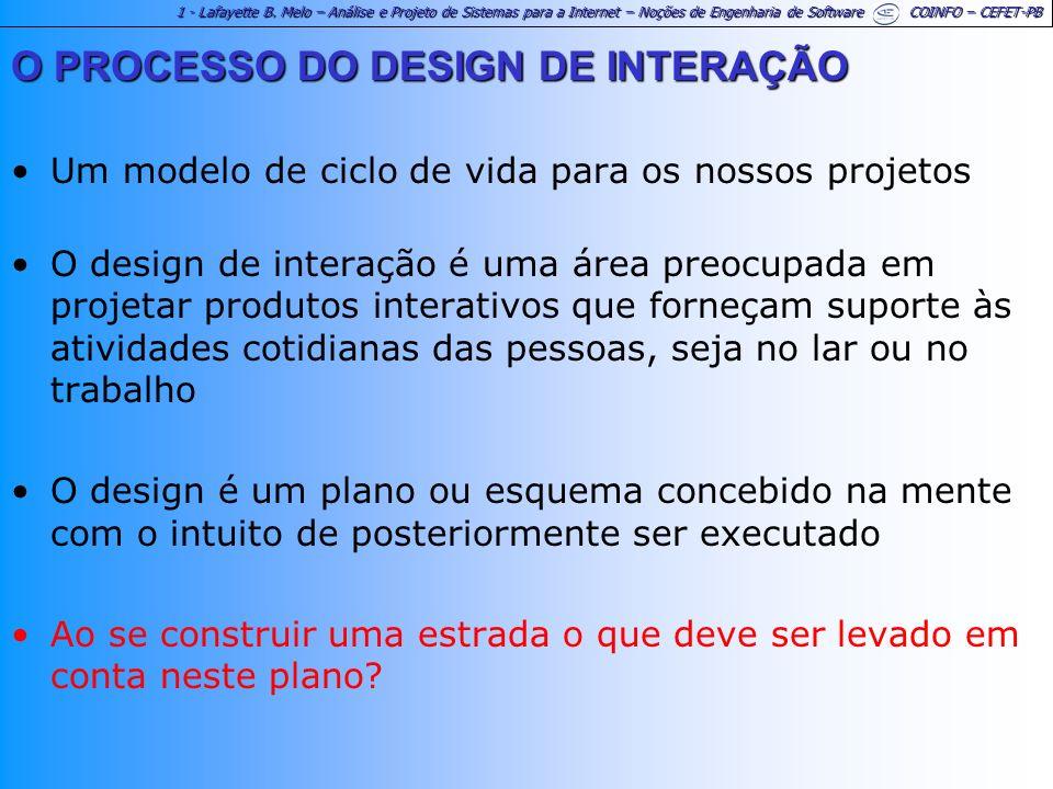 O PROCESSO DO DESIGN DE INTERAÇÃO