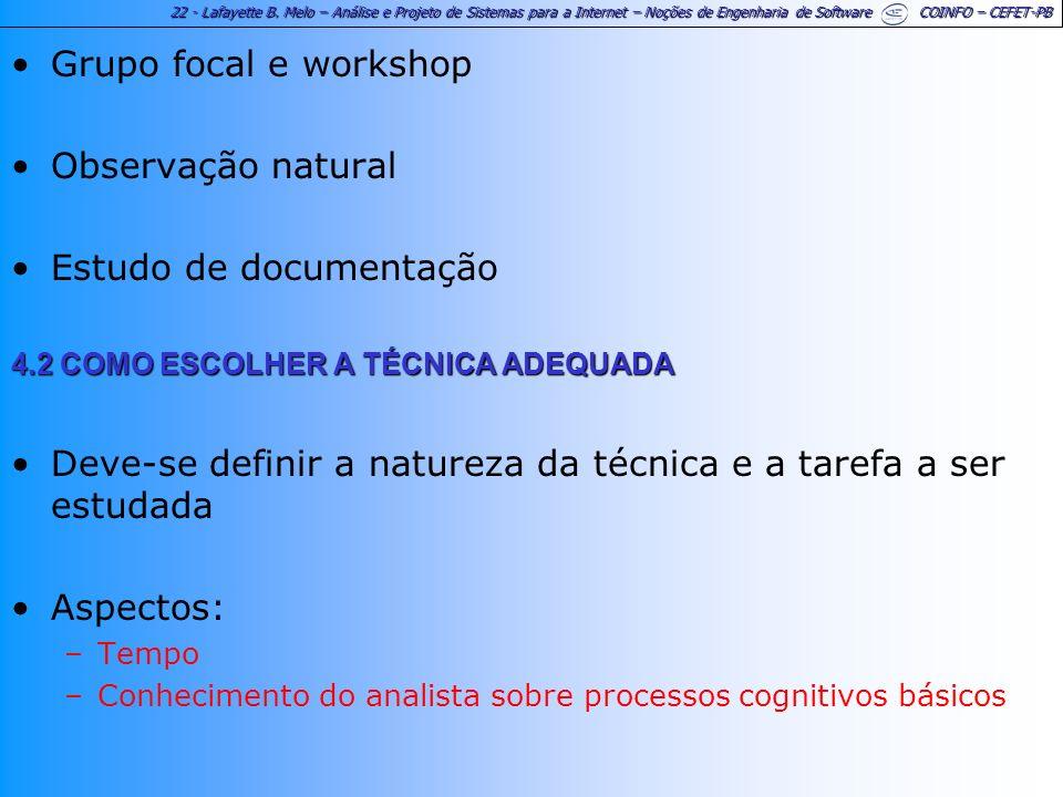 Estudo de documentação