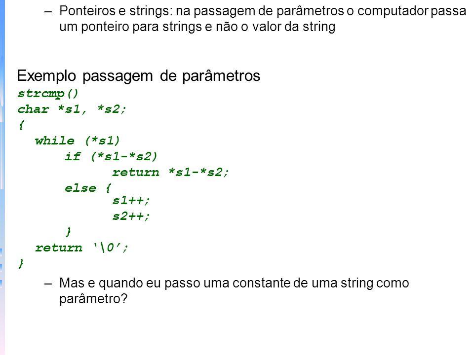 Exemplo passagem de parâmetros