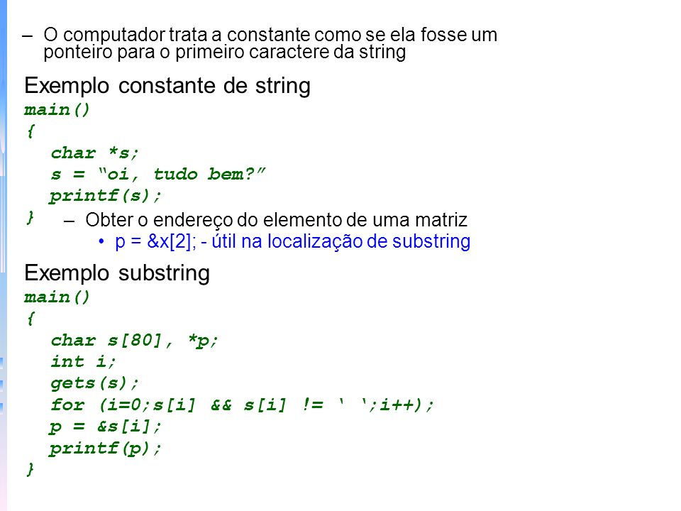 Exemplo constante de string
