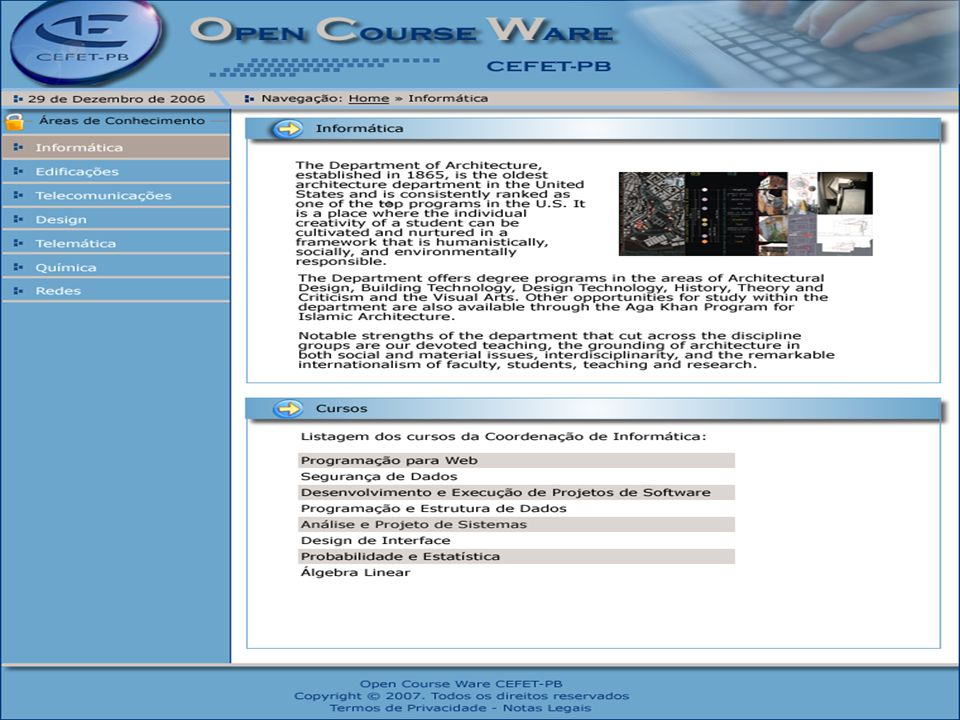 Lafayette B. Melo – Núcleo de Aprendizagem Virtual – CEFET-PB - 6