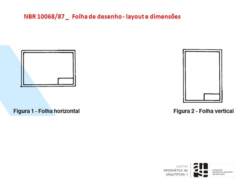 NBR 10068/87 _ Folha de desenho - layout e dimensões