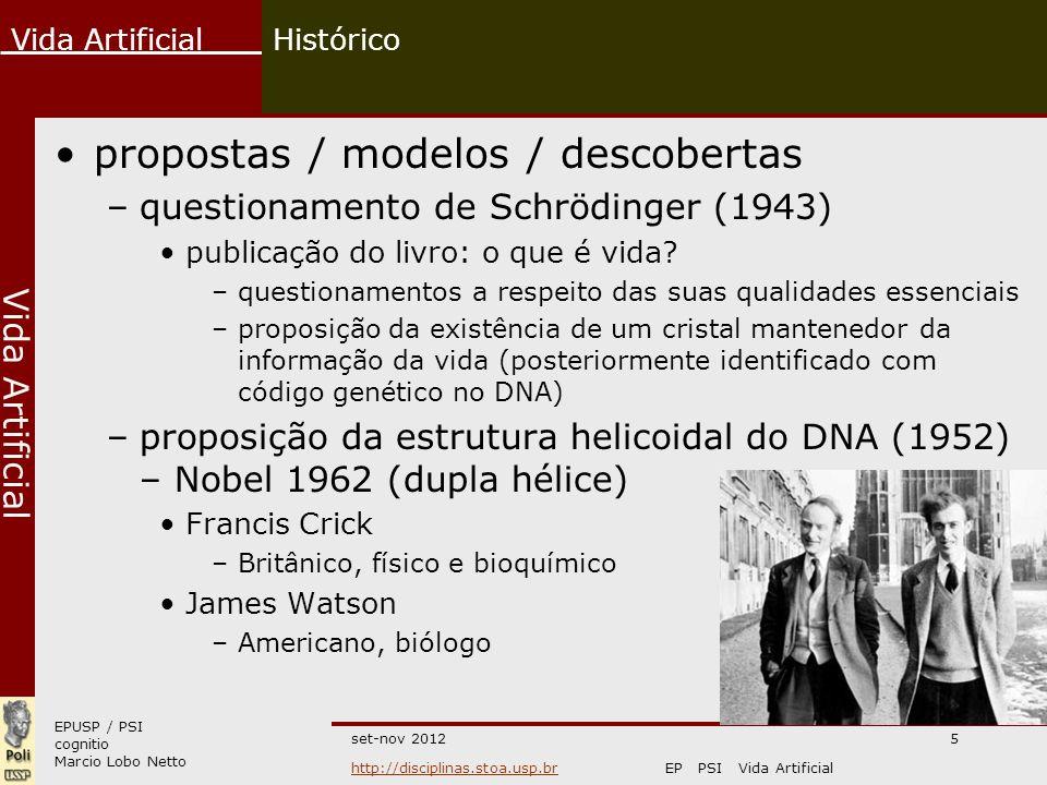 propostas / modelos / descobertas