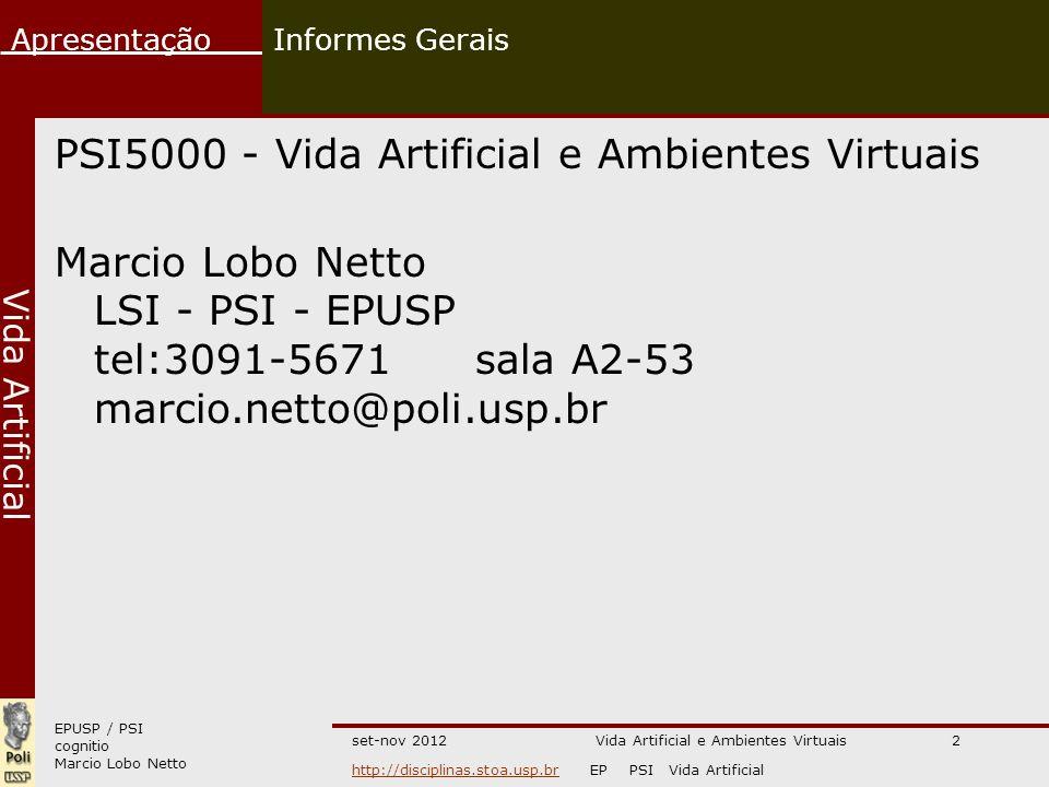 Vida Artificial e Ambientes Virtuais