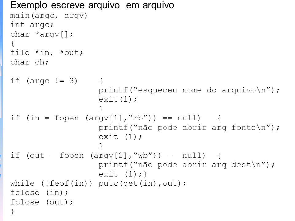 Exemplo escreve arquivo em arquivo