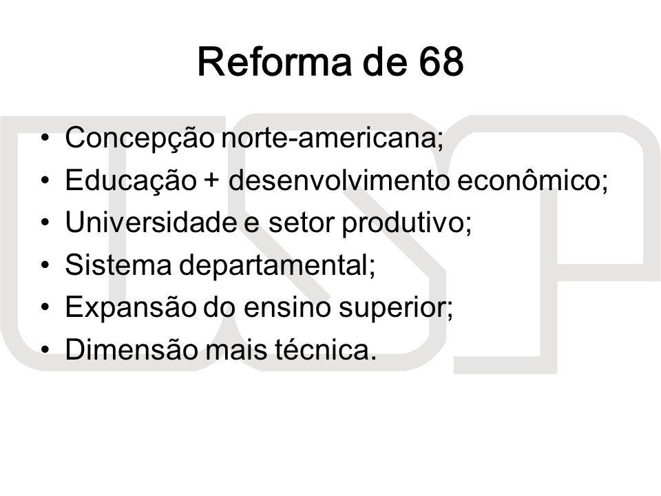 Reforma de 68 Concepção norte-americana;
