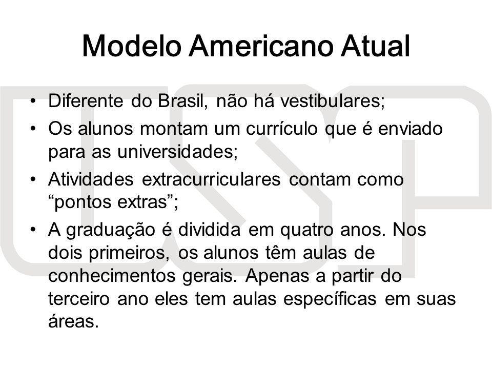 Modelo Americano Atual
