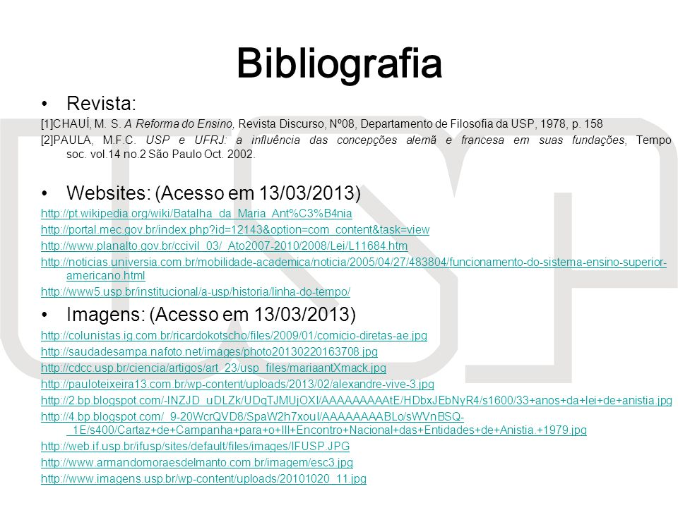 Bibliografia Revista: Websites: (Acesso em 13/03/2013)