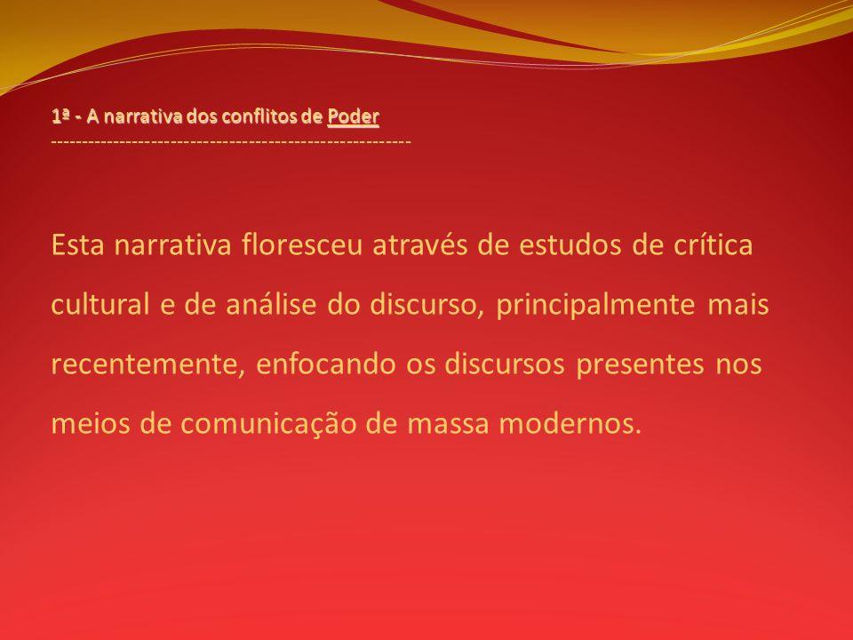 1ª - A narrativa dos conflitos de Poder