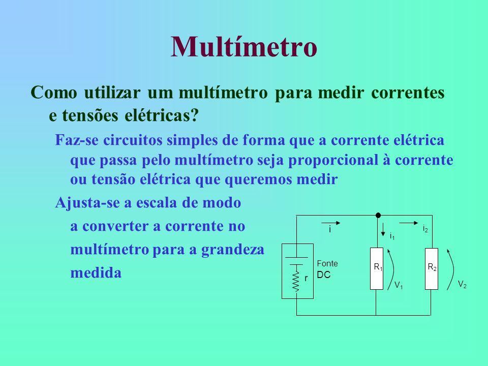 Multímetro Como utilizar um multímetro para medir correntes e tensões elétricas
