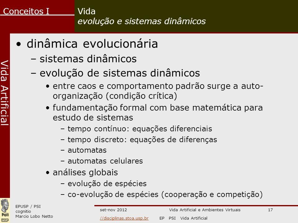 Vida evolução e sistemas dinâmicos