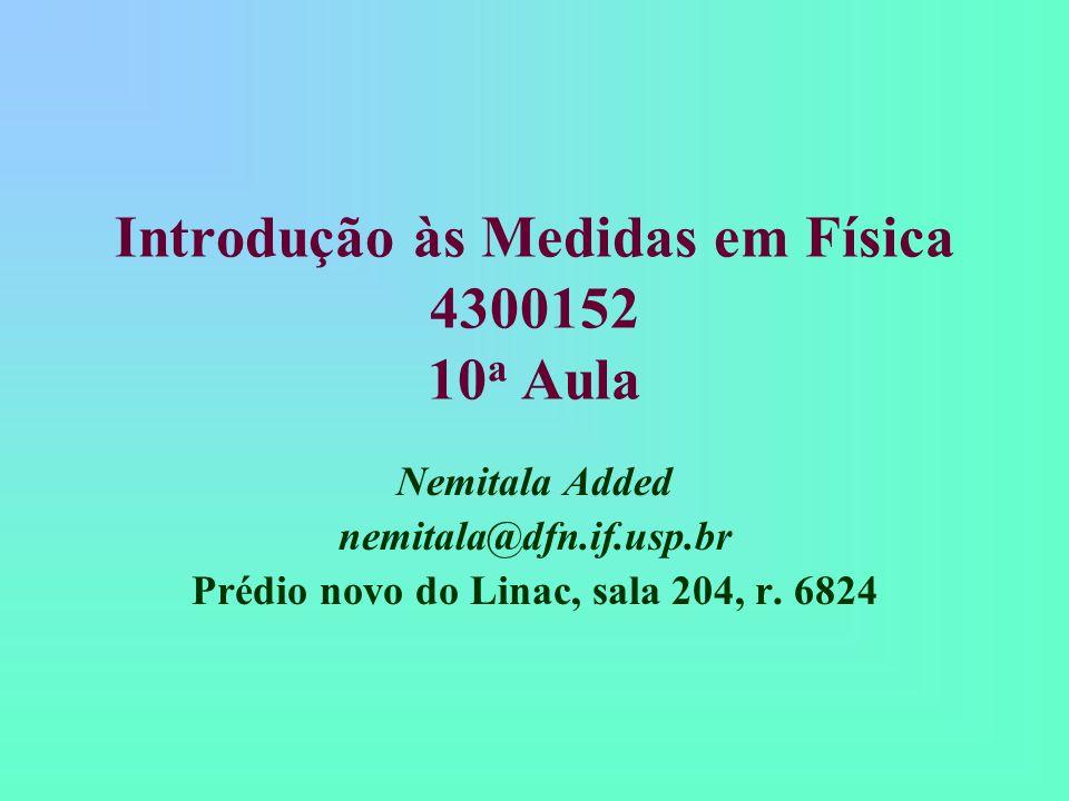 Introdução às Medidas em Física 4300152 10a Aula