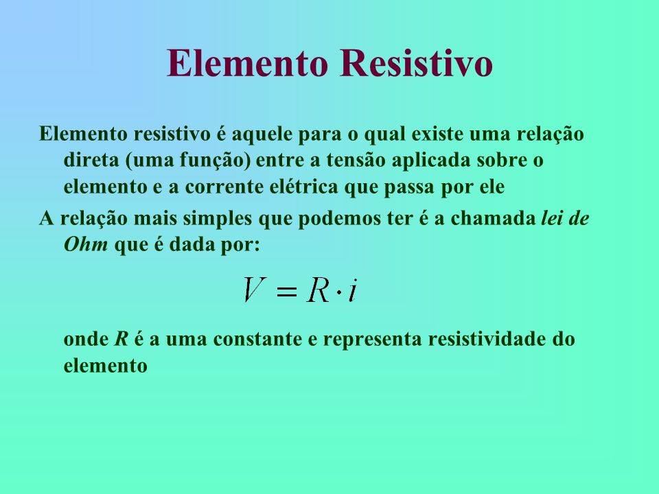 Elemento Resistivo