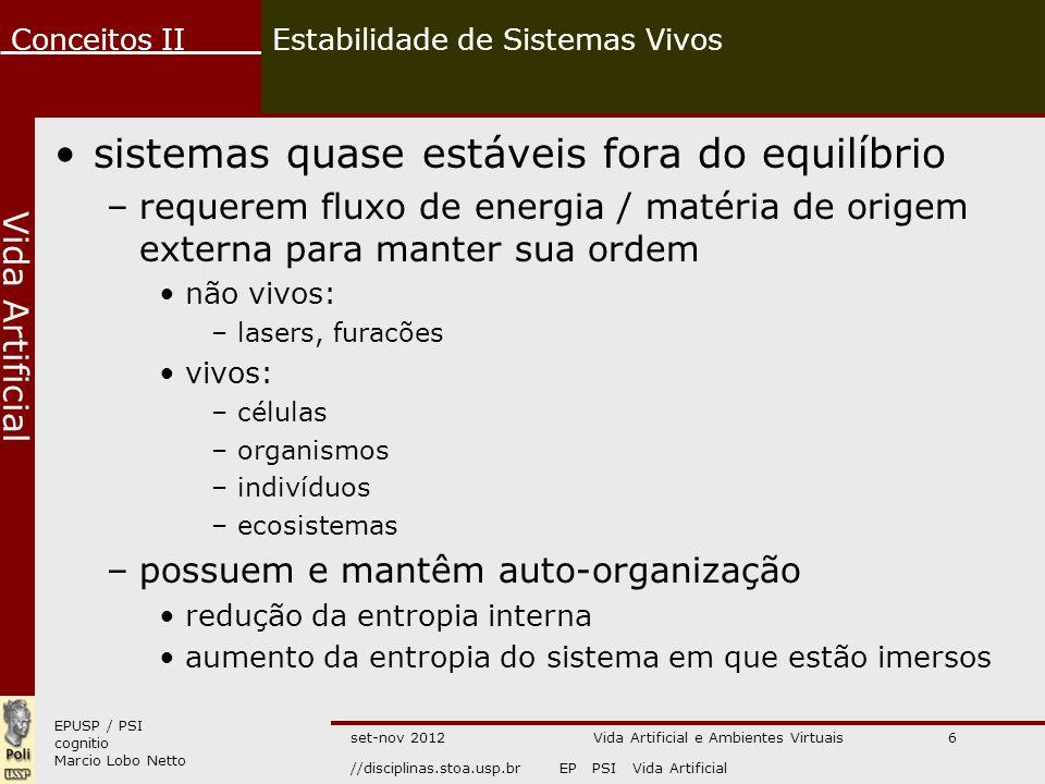Estabilidade de Sistemas Vivos