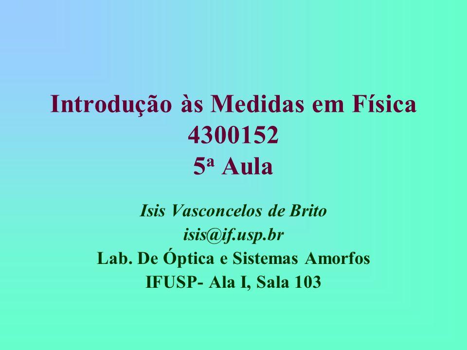 Introdução às Medidas em Física 4300152 5a Aula
