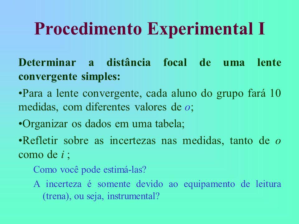 Procedimento Experimental I