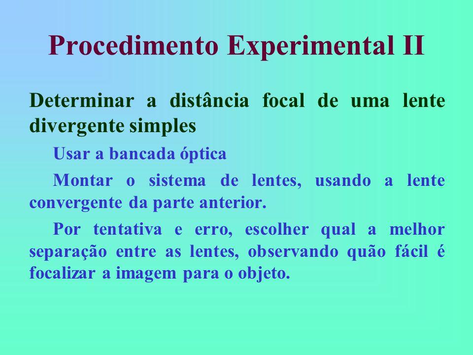 Procedimento Experimental II