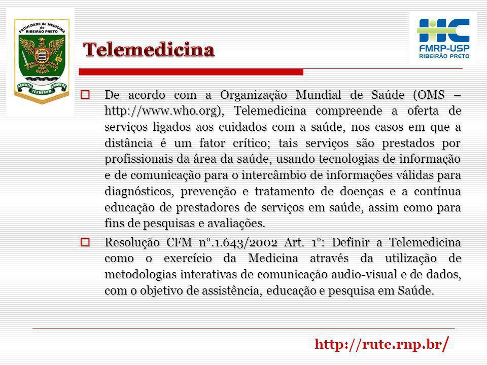 Telemedicina http://rute.rnp.br/