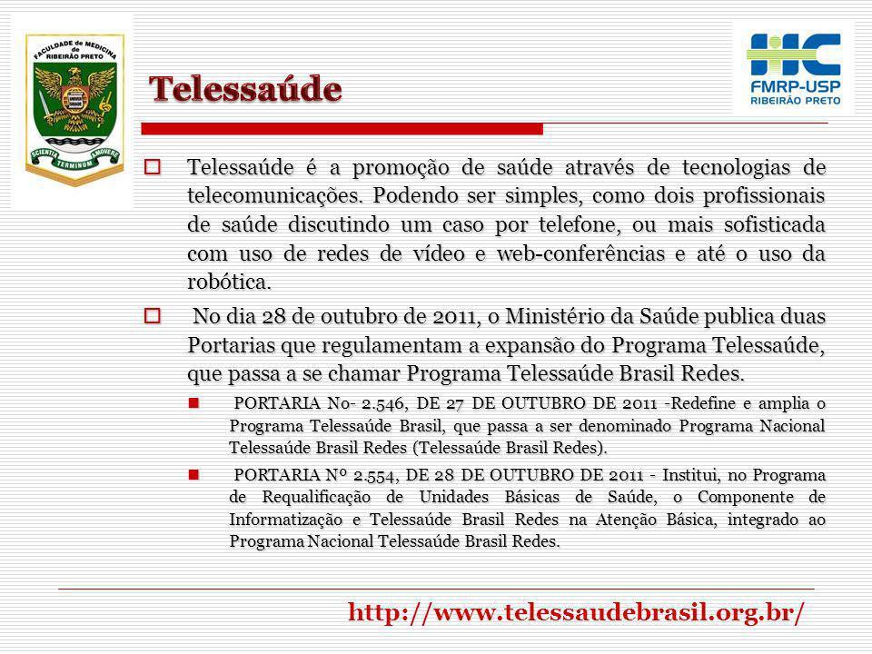 Telessaúde http://www.telessaudebrasil.org.br/