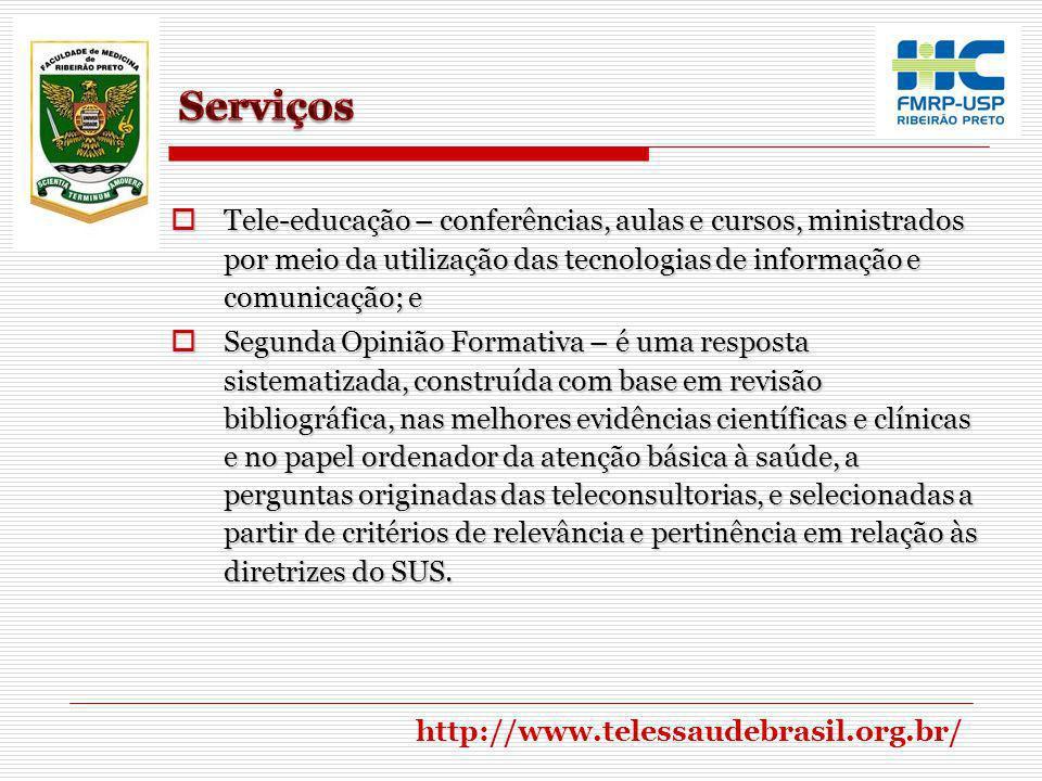 Serviços Tele-educação – conferências, aulas e cursos, ministrados por meio da utilização das tecnologias de informação e comunicação; e.