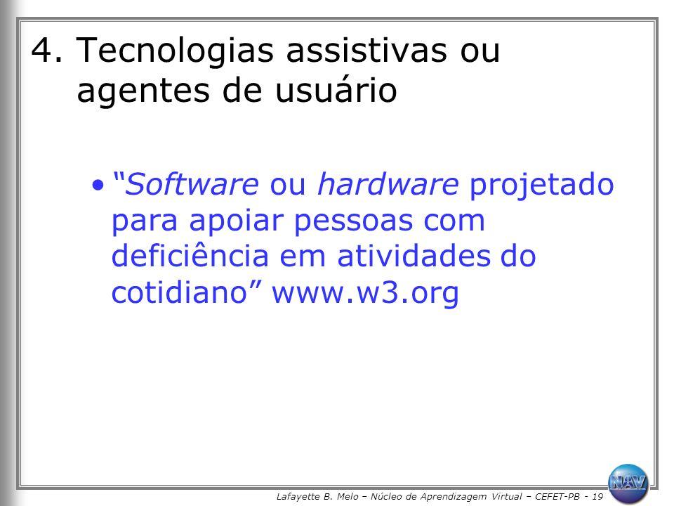 Lafayette B. Melo – Núcleo de Aprendizagem Virtual – CEFET-PB - 19