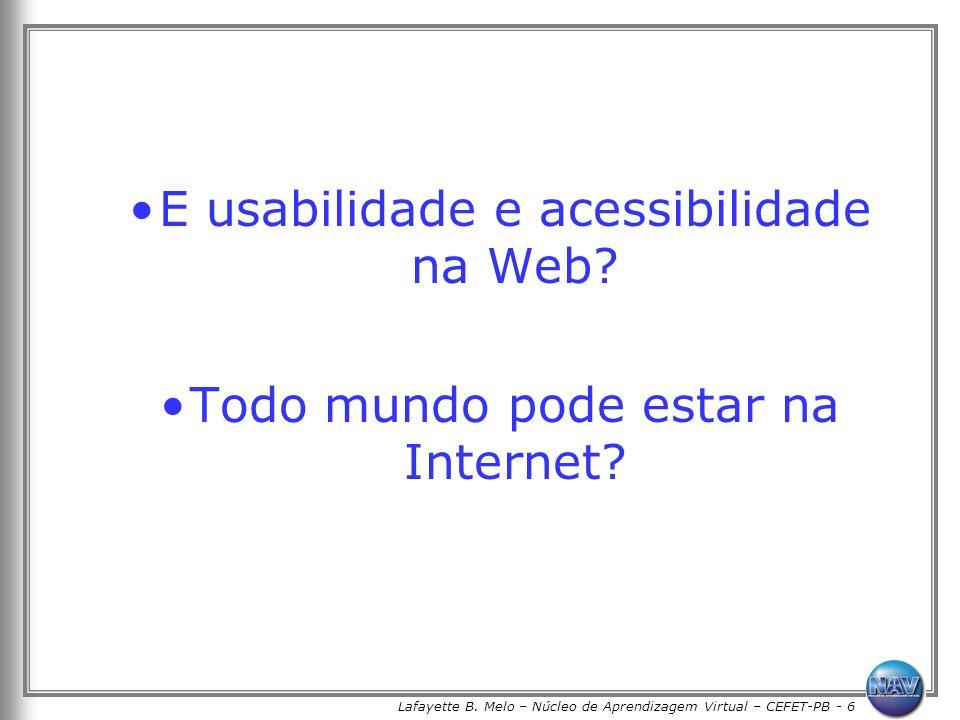 E usabilidade e acessibilidade na Web