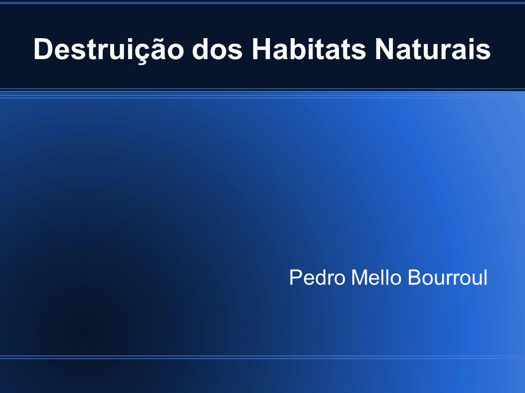 Destruição dos Habitats Naturais