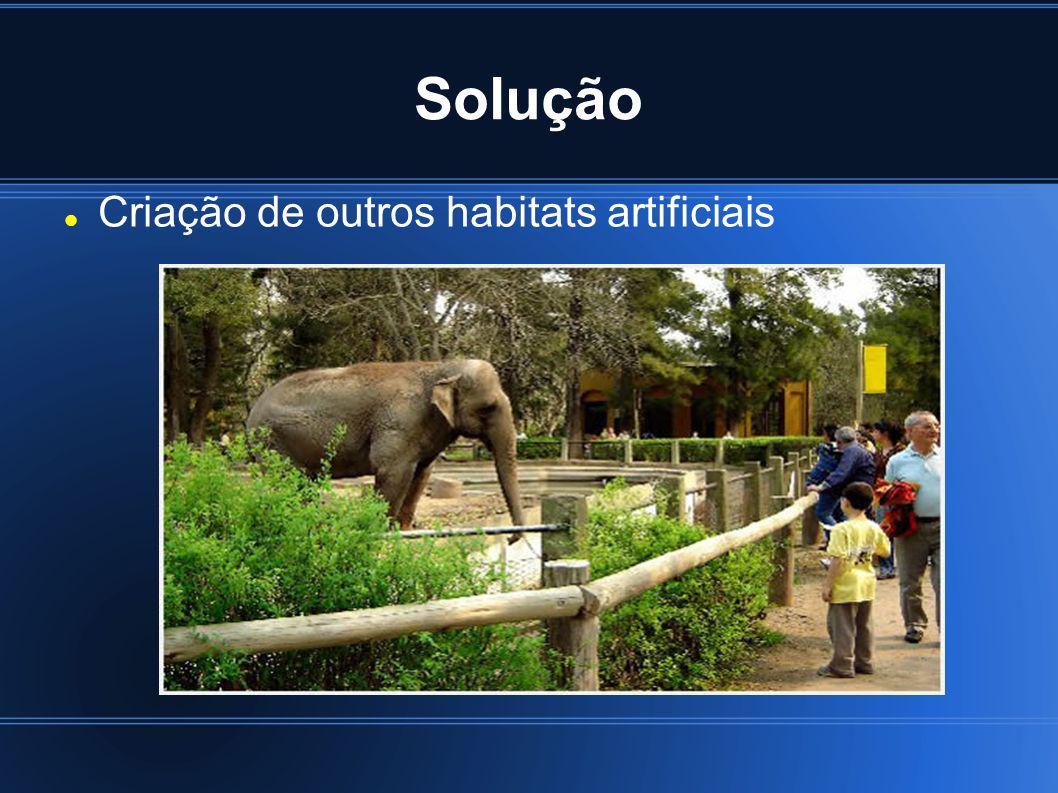 Solução Criação de outros habitats artificiais